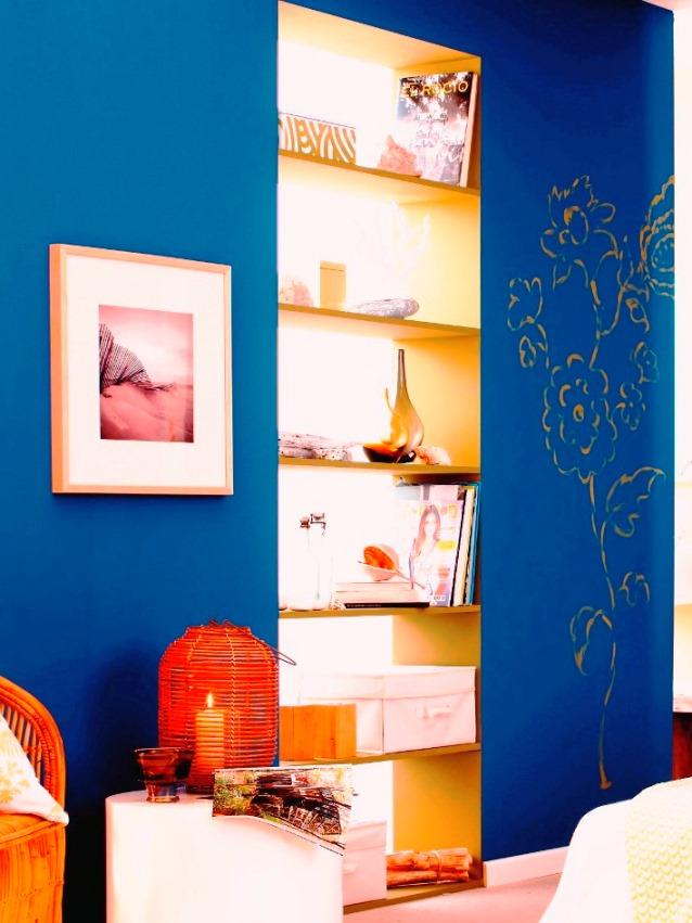 חדר בגווני חול ולבן צבוע בצבעי טמבור