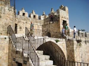 סיור חומות כחלק מהעלייה לרגל. ירושלים