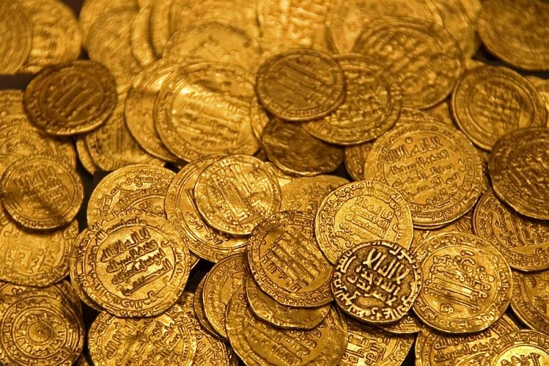 אוצר מטבעות הזהב הטהור במוזיאון רמלה