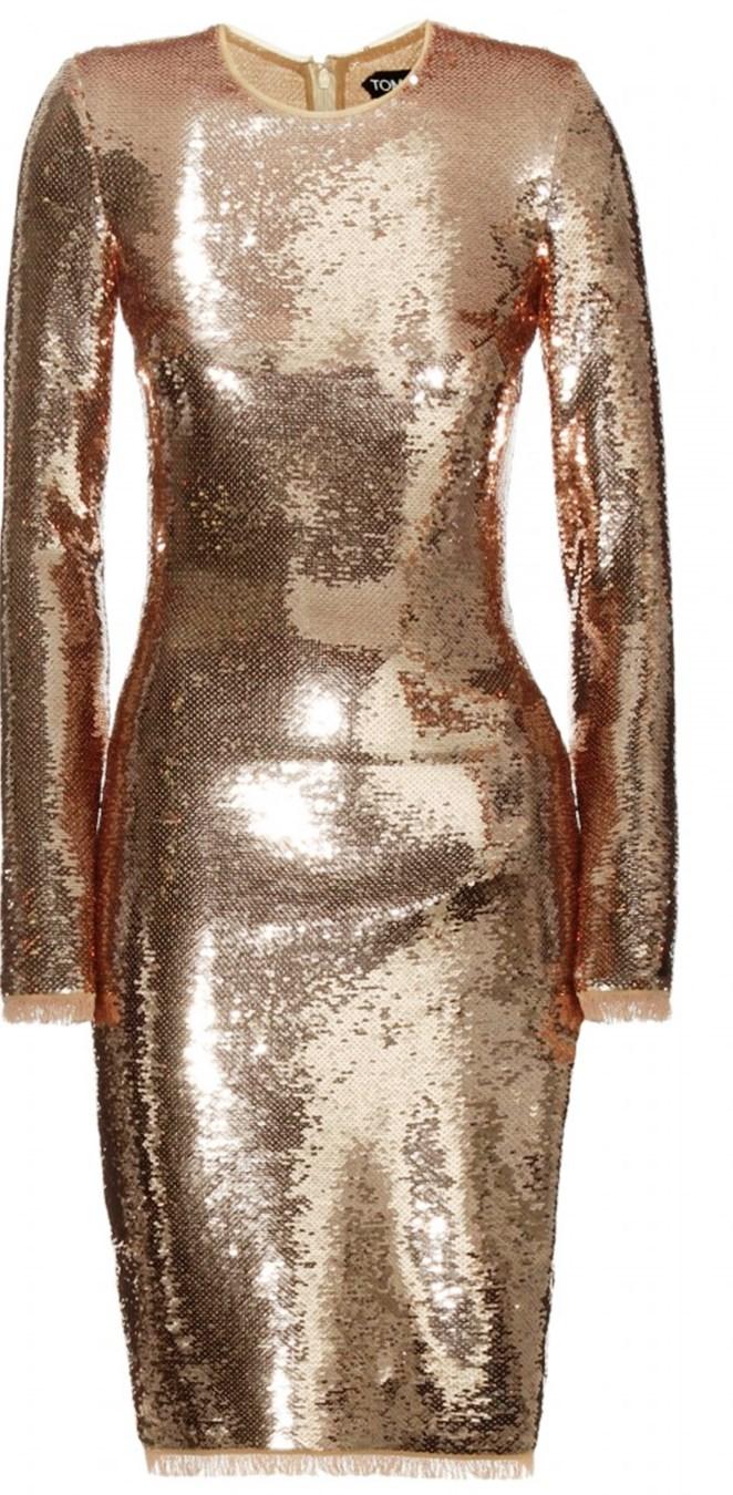 שמלת זהב של תום פורד בבוטיק ל'איטליה. צילום: רם ירון