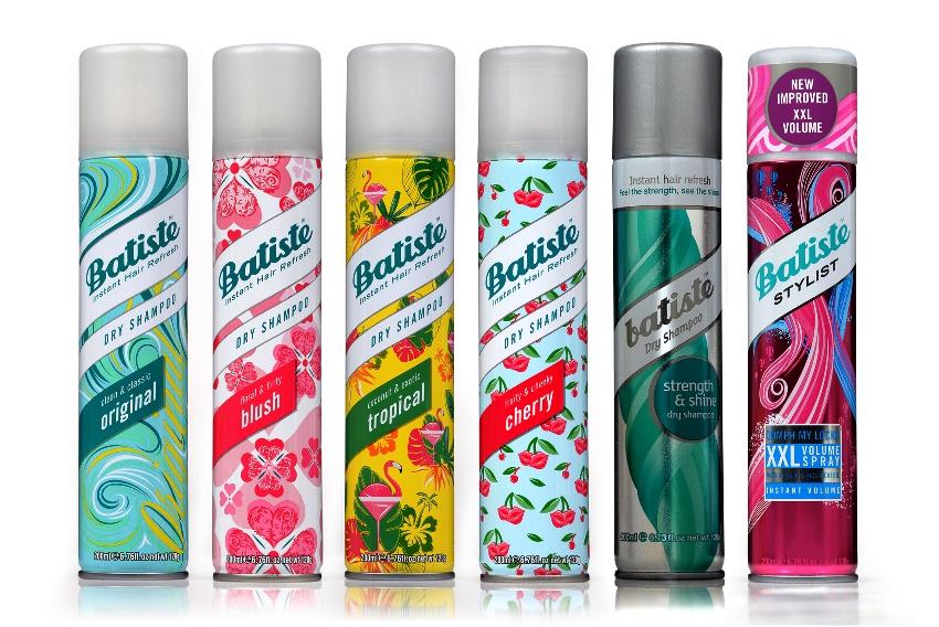 שמפו יבש של בטיסט במגוון ריחות ויעדים