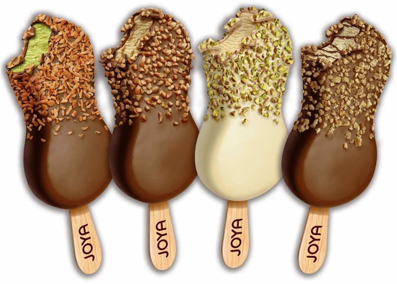 קוקוס, פיסטוק, קרמל מלוח. גלידות נסטלה. ג'ויה