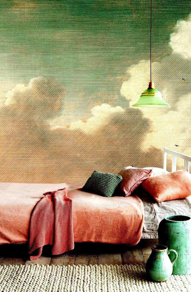 גולדשטיין גלרי טפט. קיר עננים