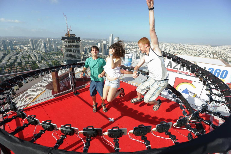 על גג העולם בקניון עזריאלי צילום לנס הפקות