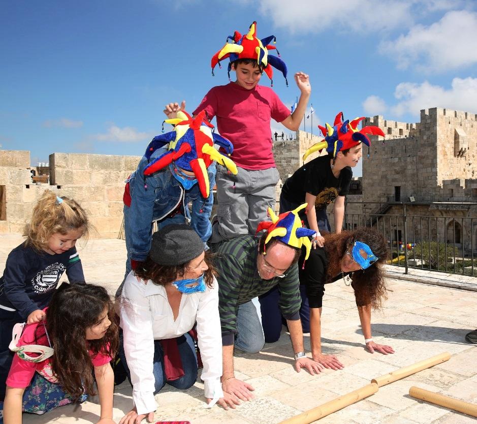 מרוץ משפחות פורימי של מוזיאון מגדל דוד. צילום עודד אנטמן
