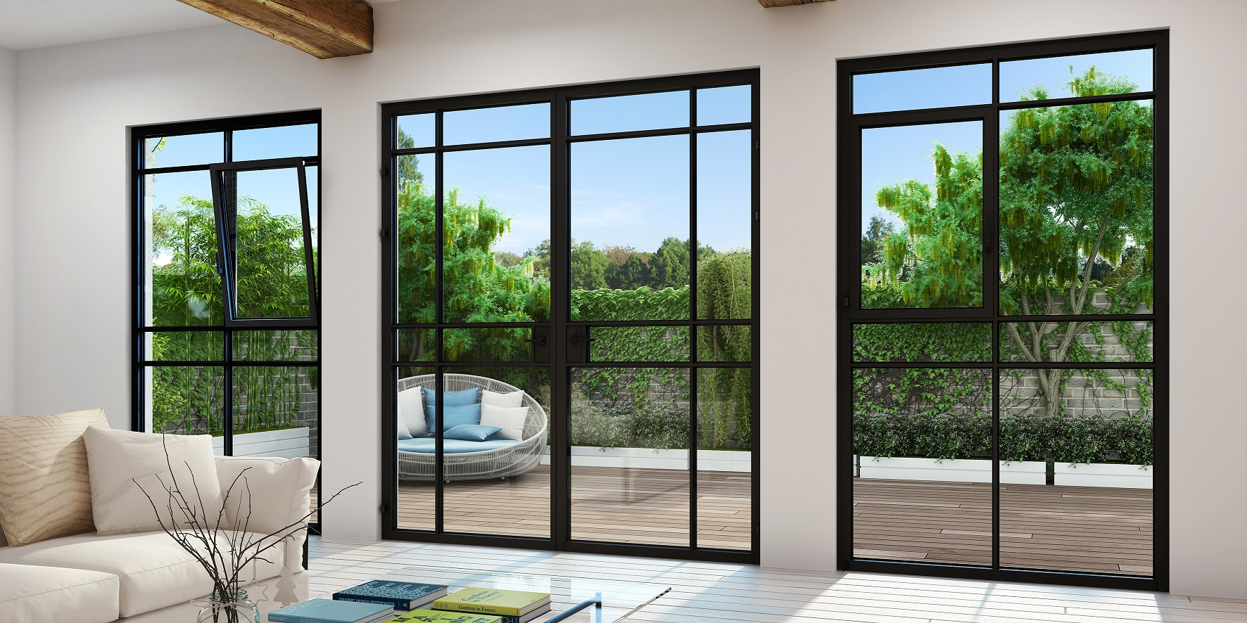 קליל. טרנד החלונות הבלגיים עם המסגרות הדקיקות